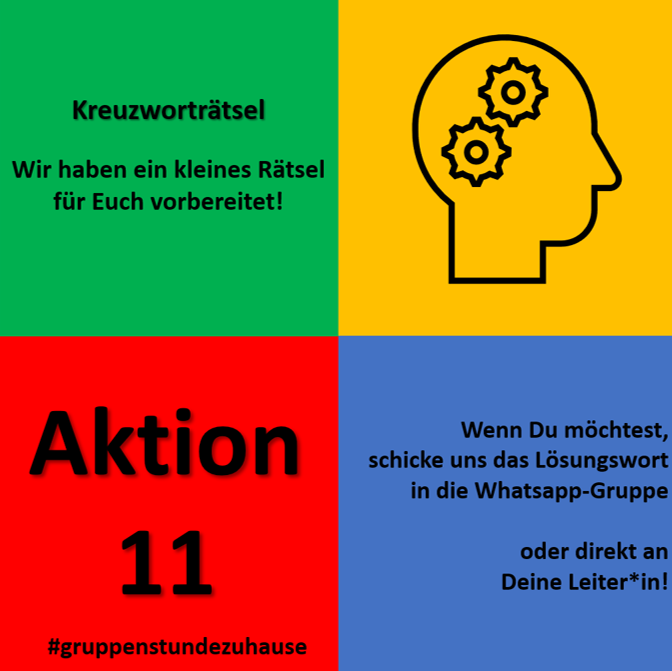Gruppenstunde zuhause - Aktion 11