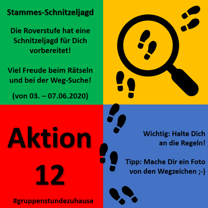 Gruppenstunden zuhause - Aktion 12