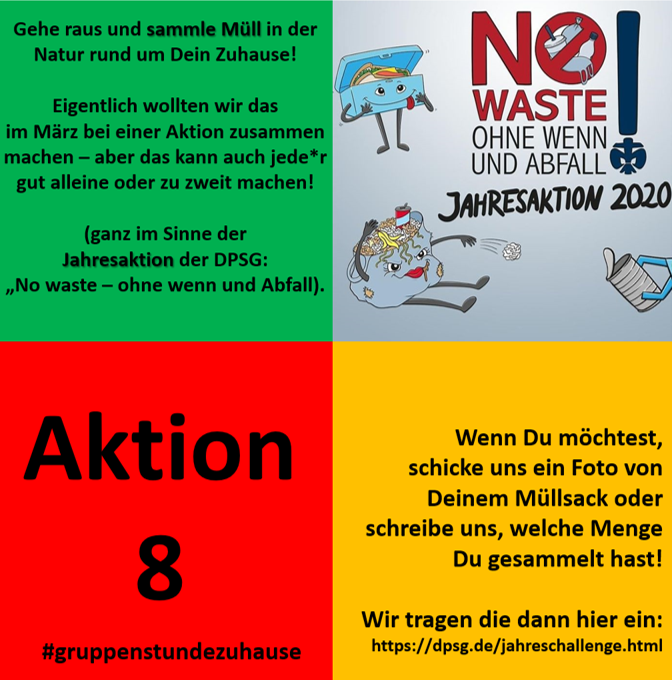Gruppenstunde zuhause - Aktion 8